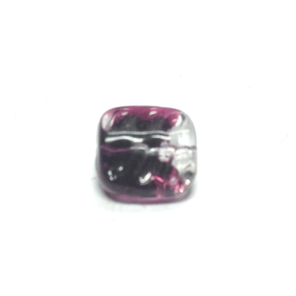 12MM Black Square Glass Bead (72 pieces)