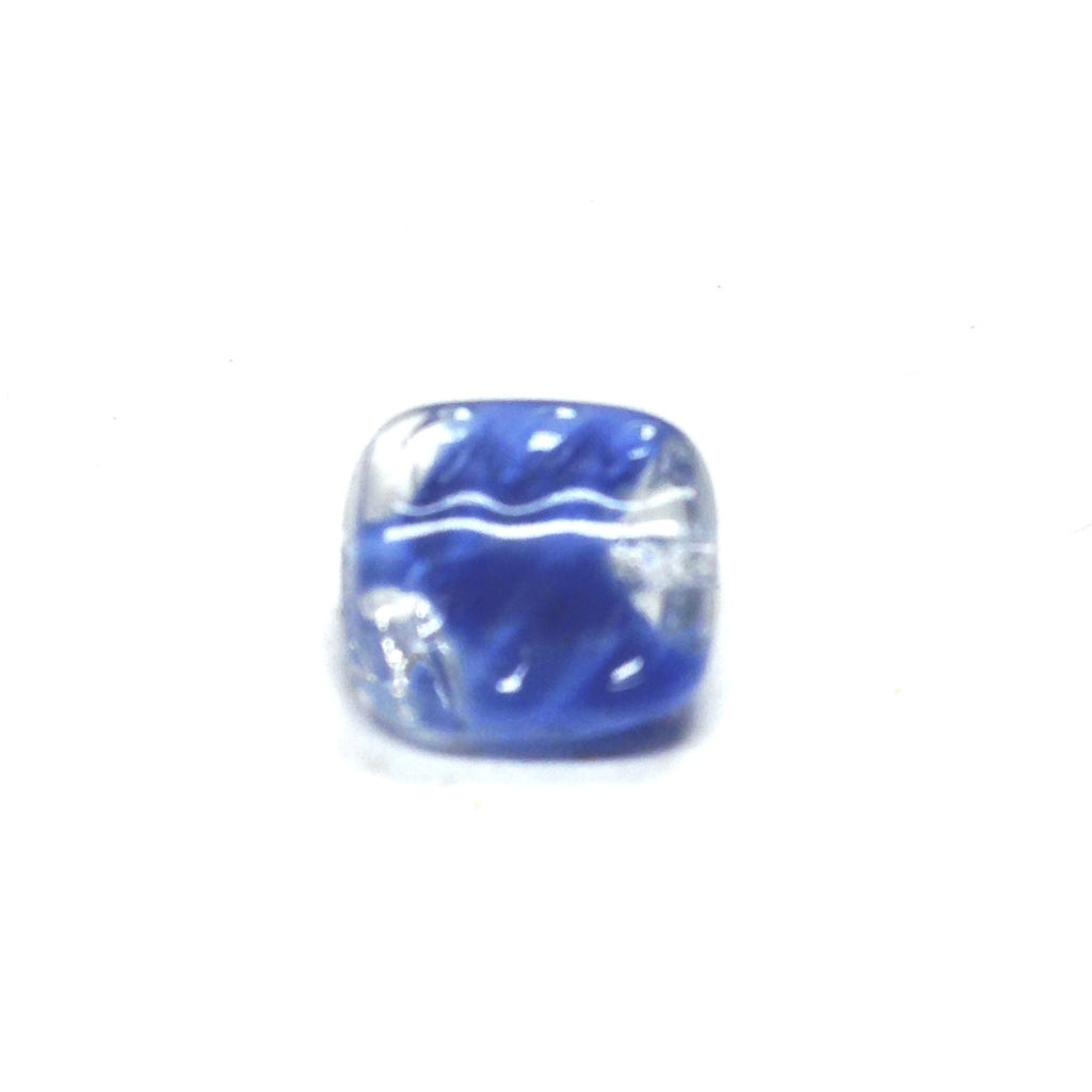 9MM Blue Glass Square Bead (144 pieces)