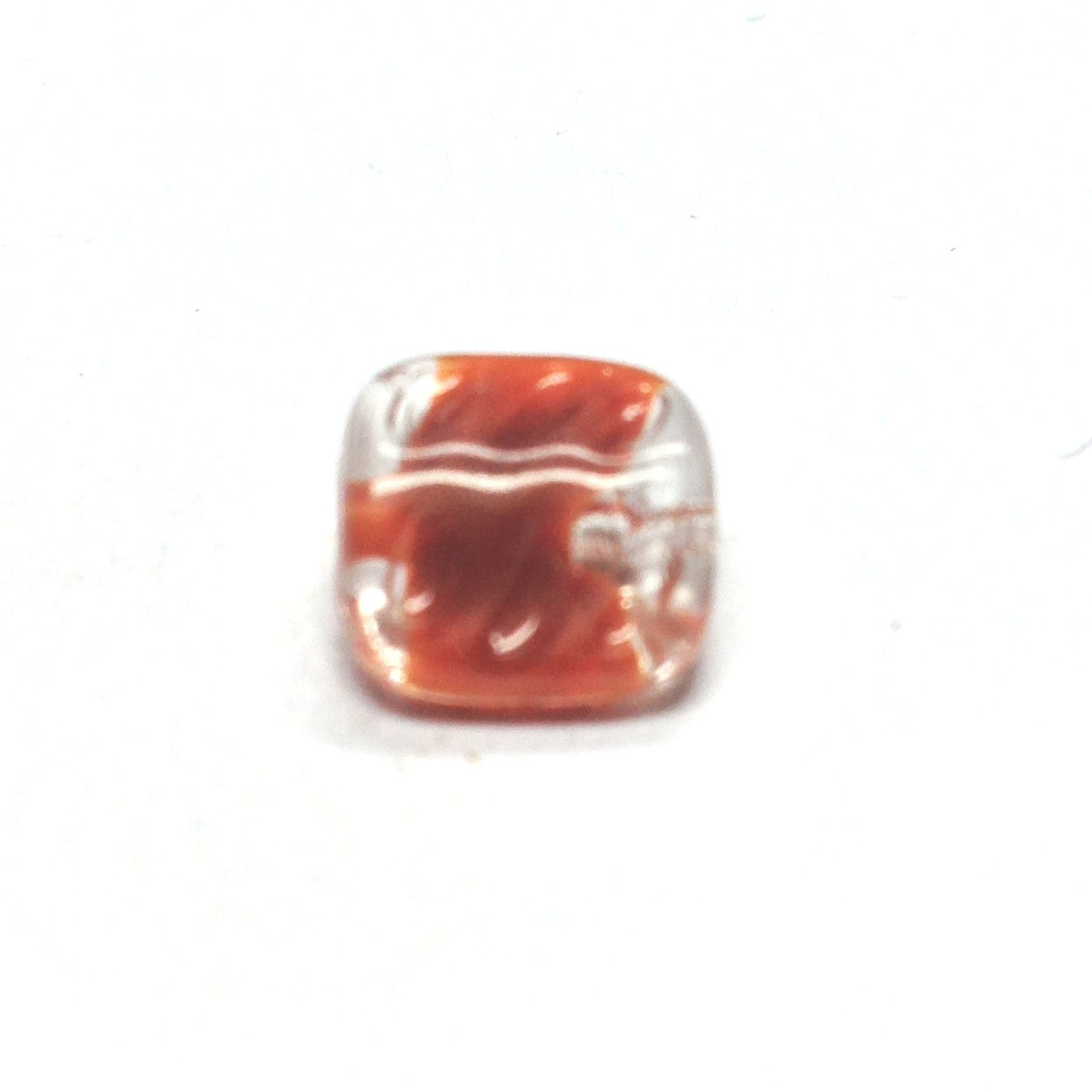 12MM Brown Square Glass Bead (72 pieces)