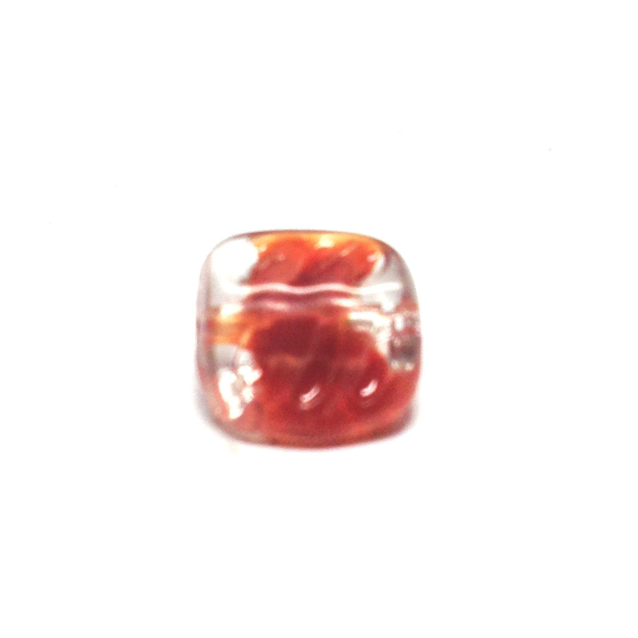 12MM Carnelian Square Glass Bead (72 pieces)