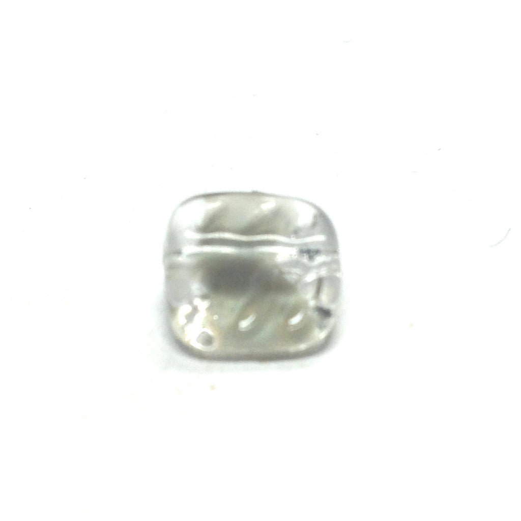 12MM Grey Square Glass Bead (72 pieces)