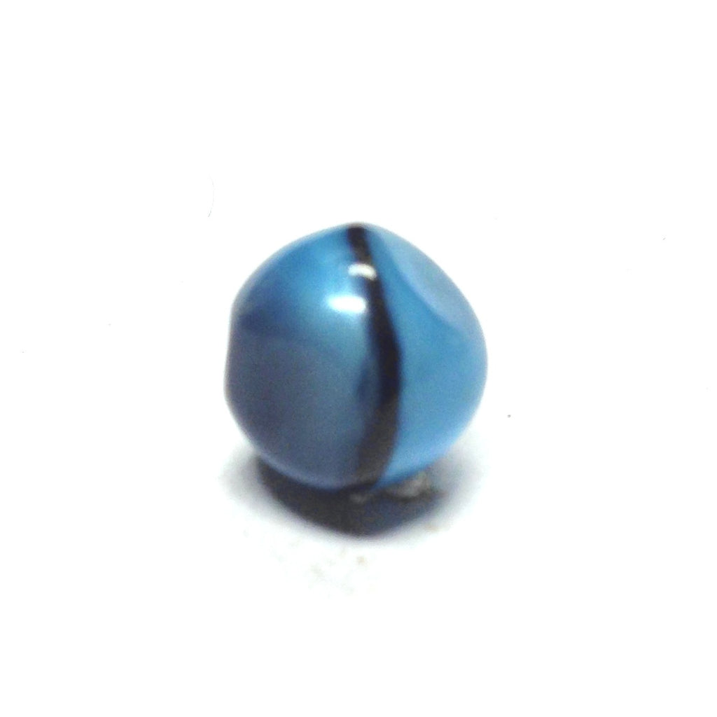 13MM Aqua Glass Nugget Bead (72 pieces)