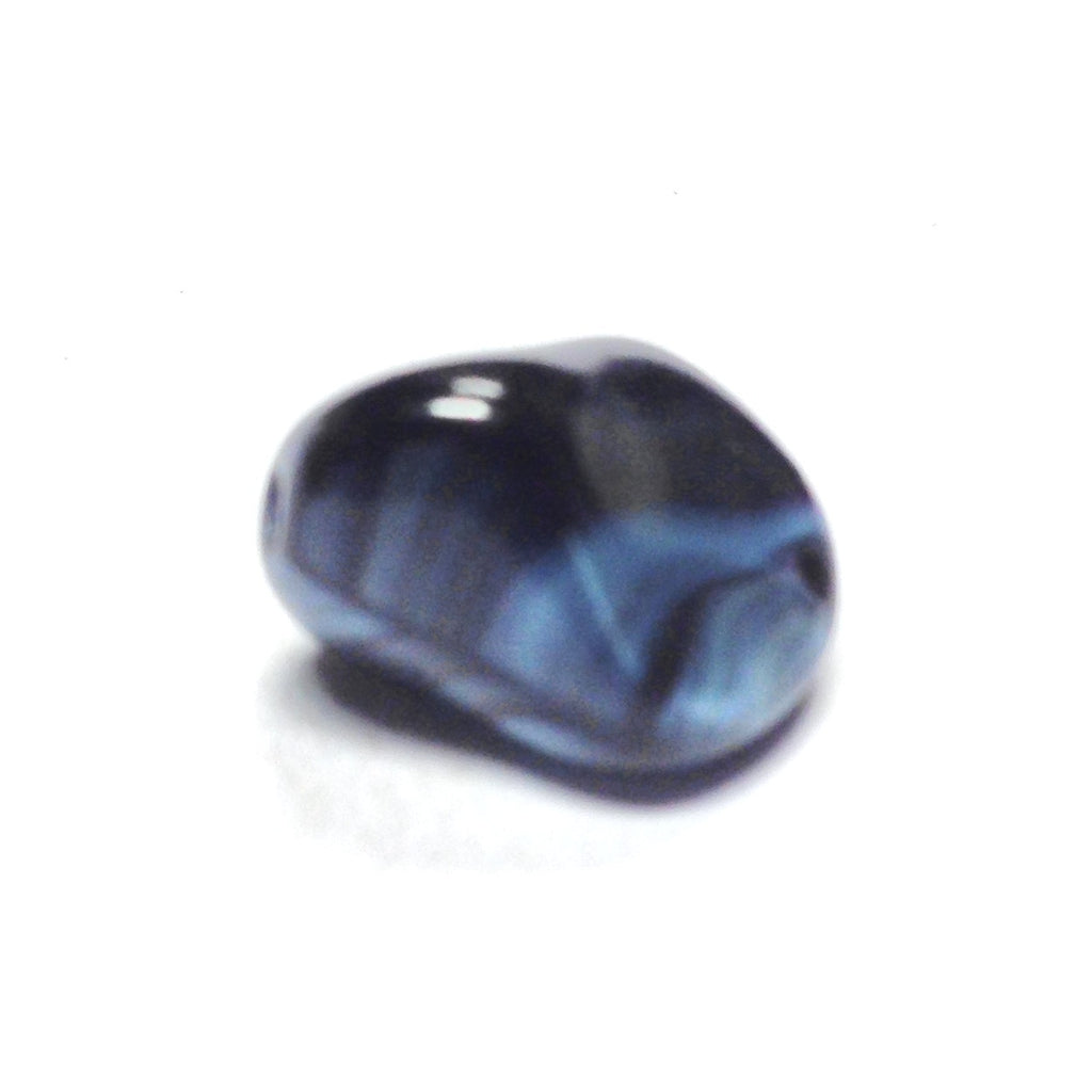 11X14 Sapphire Blue Glass Nugget Bead (72 pieces)