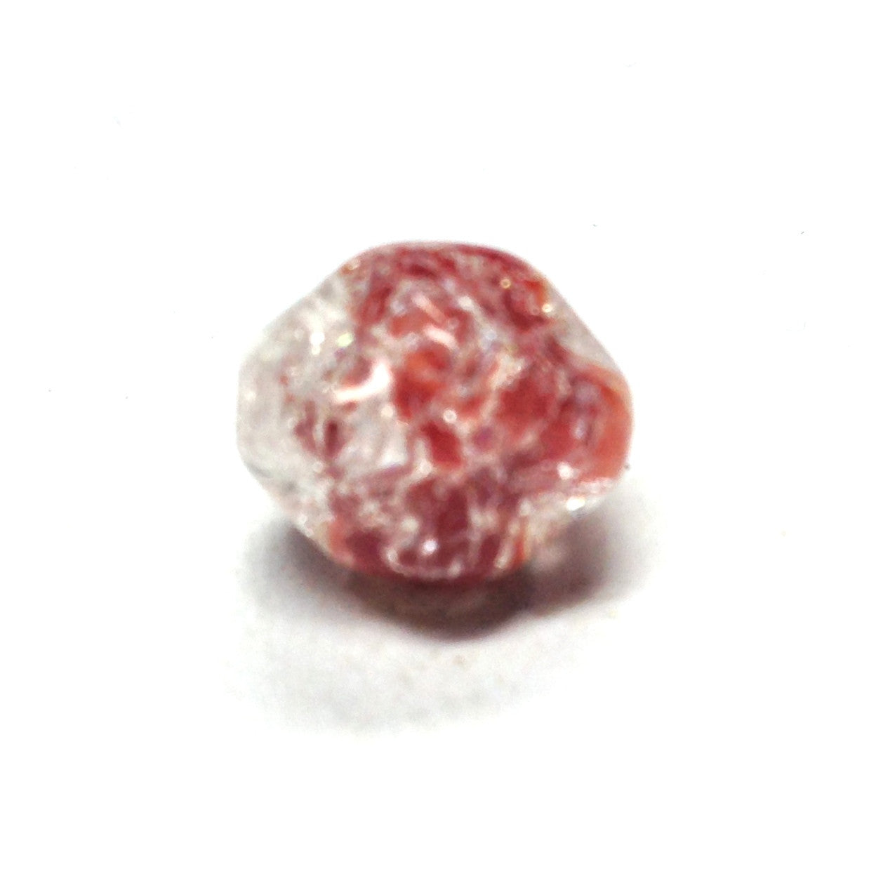 10MM Red/Cry.Crackle Barq.Bead (72 pieces)