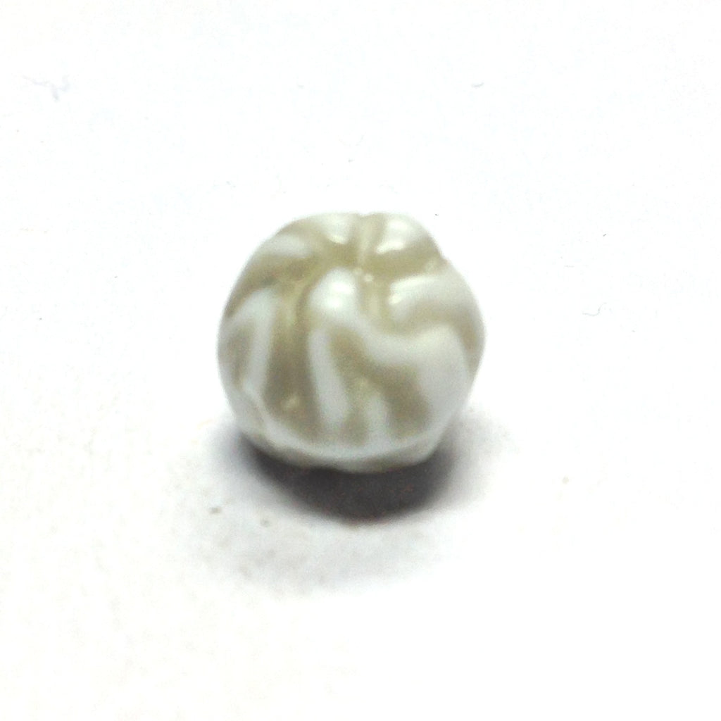 10MM Grey/White Fancy Glass Bead (72 pieces)
