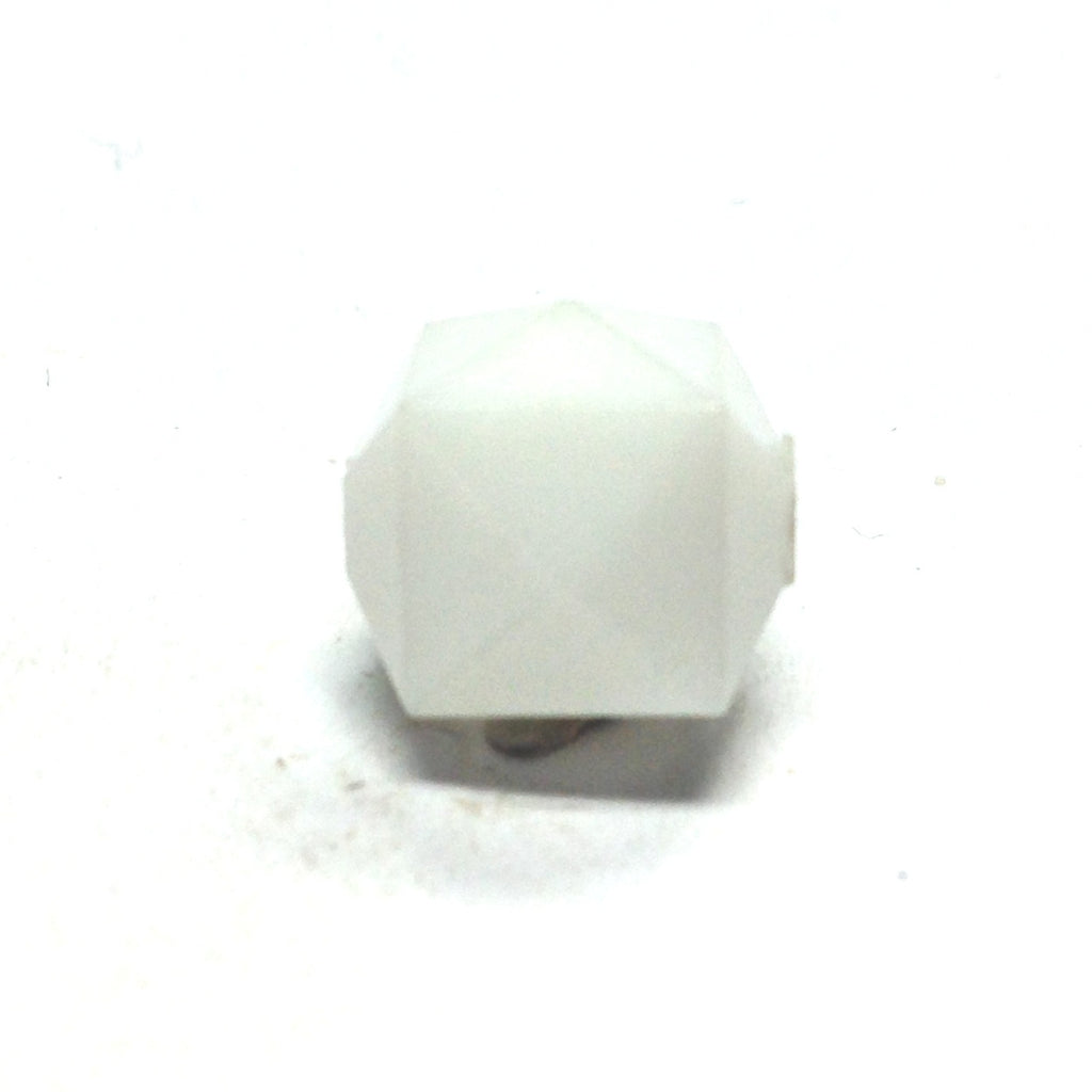 11X14MM White Faceted Cube Bead (144 pieces)