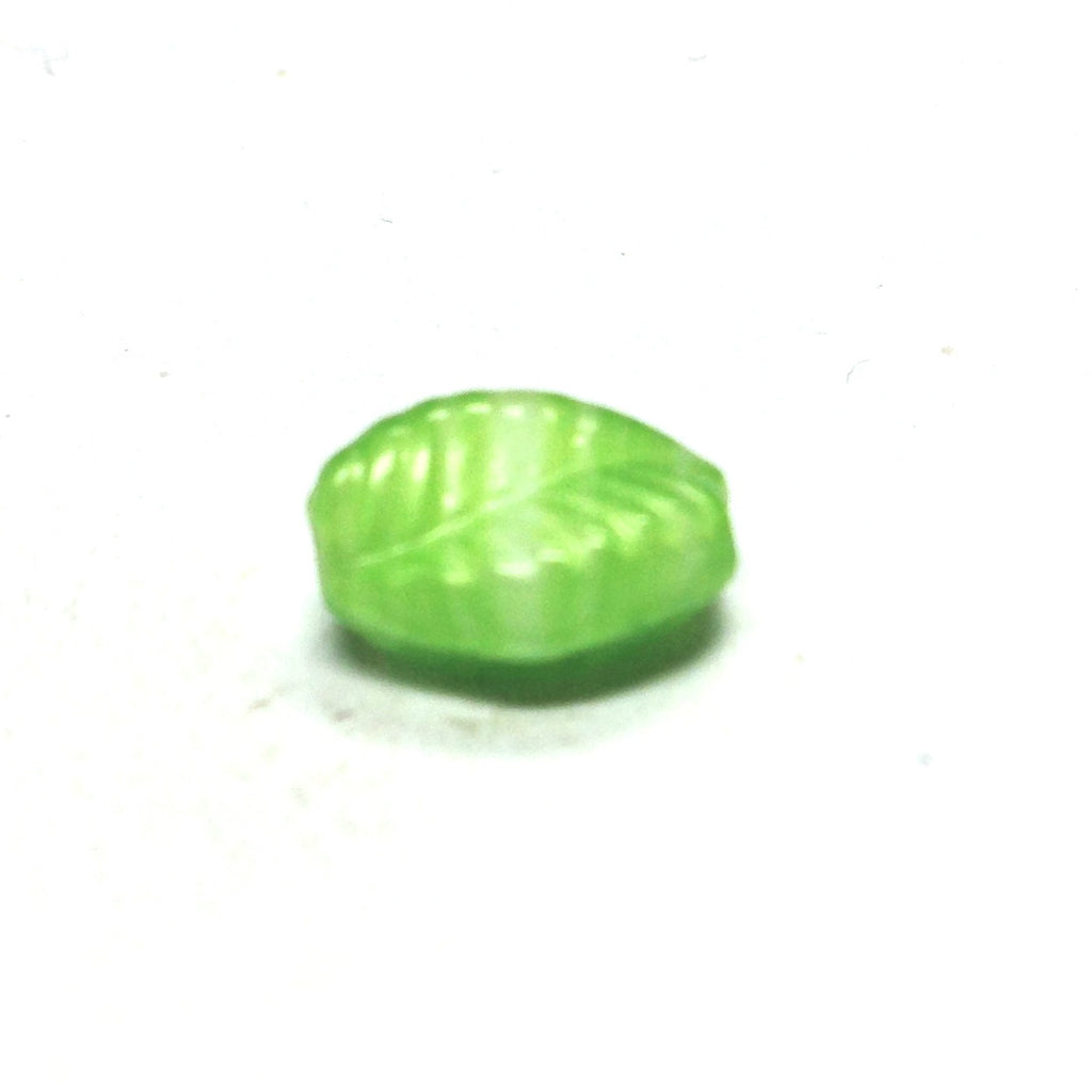 19X12MM Green Glass Leaf Bead (36 pieces)