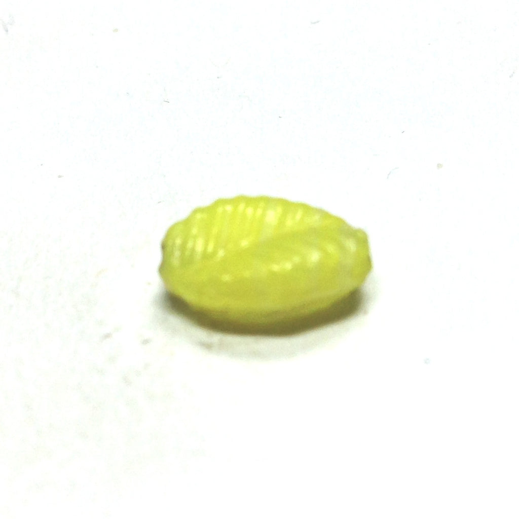 19X12MM Yellow Glass Leaf Bead (36 pieces)
