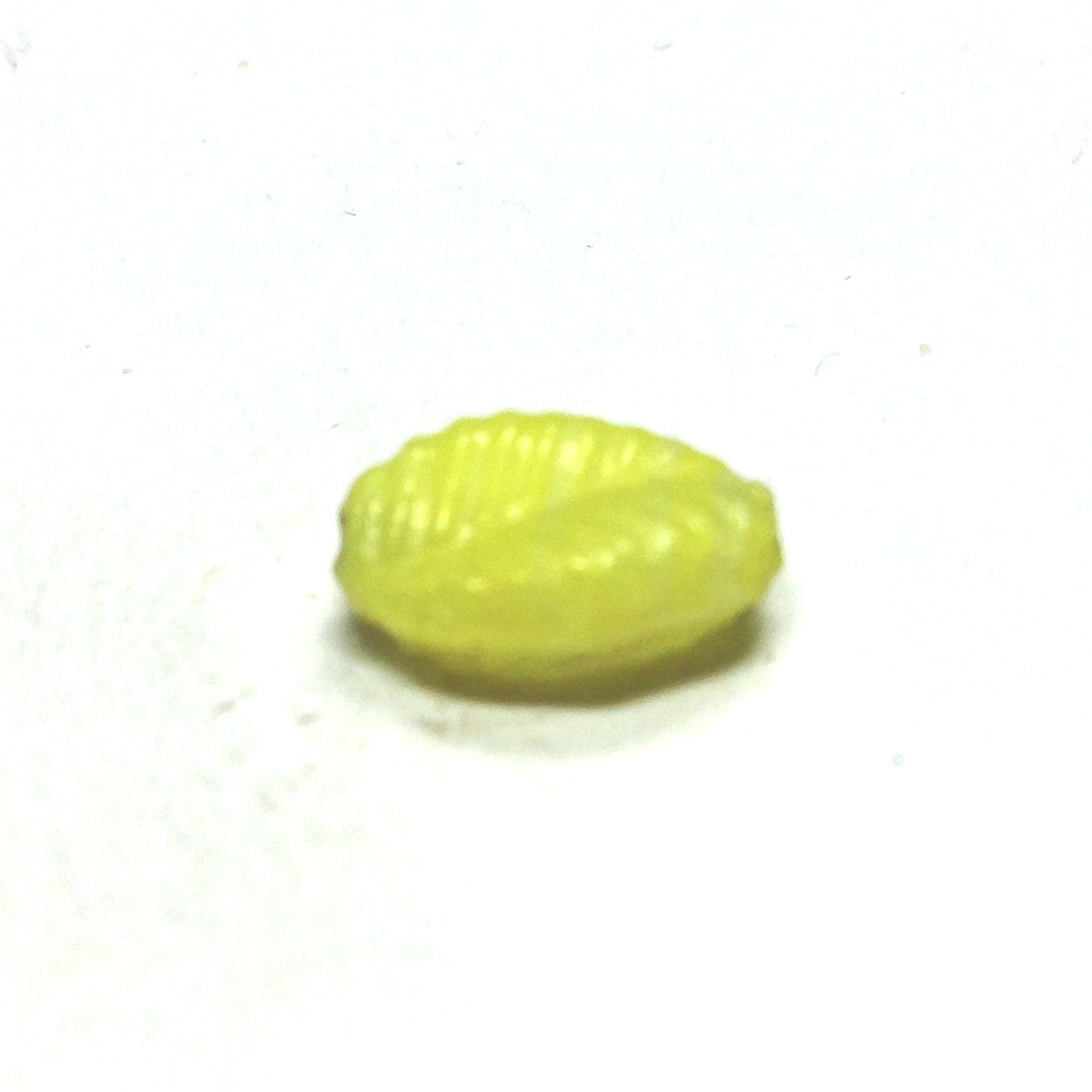 15X10MM Yellow Glass Leaf Bead (36 pieces)
