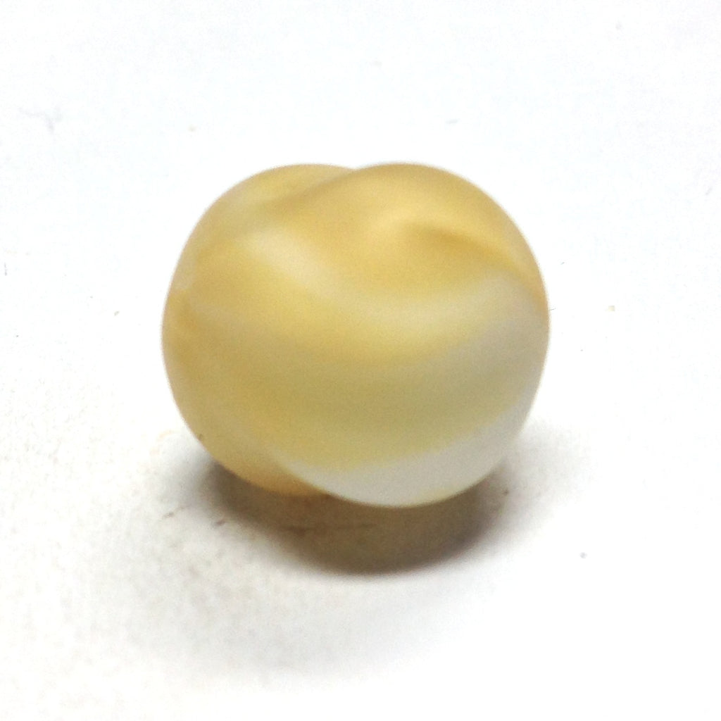 15MM Beige Glass Nugget Bead (36 pieces)