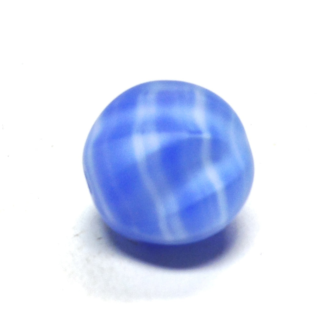 15MM Blue Glass Nugget Bead (36 pieces)