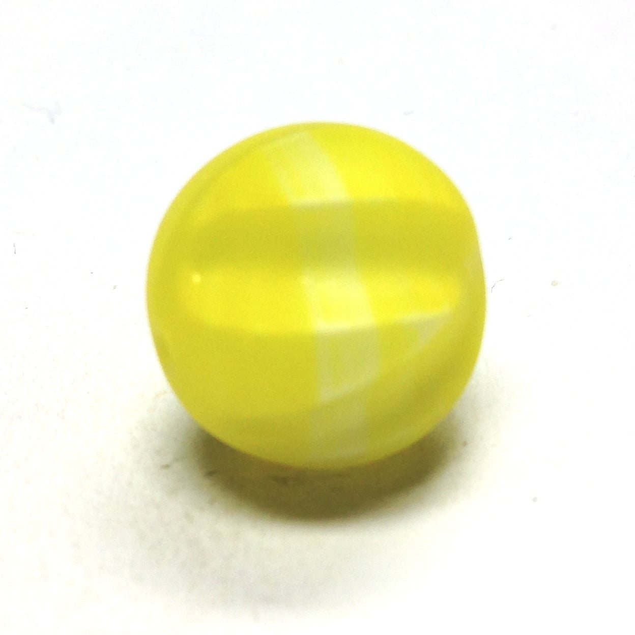 15MM Yellow Glass Nugget Bead (36 pieces)