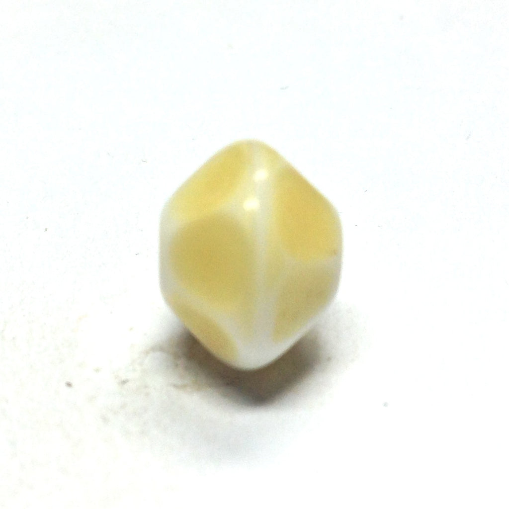12MM Beige Glass Faceted Rondel Bead (36 pieces)