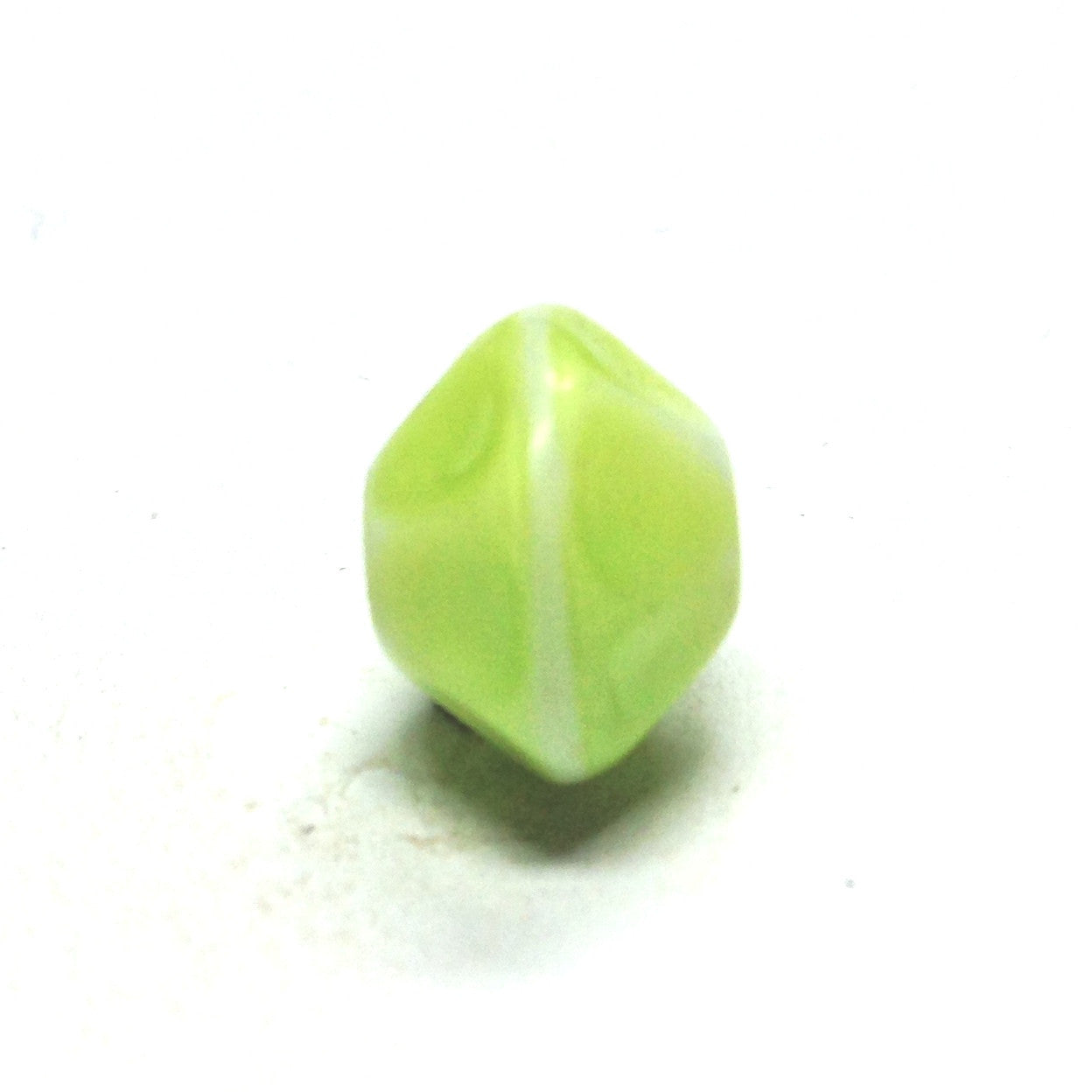 12MM Green Glass Faceted Rondel Bead (36 pieces)