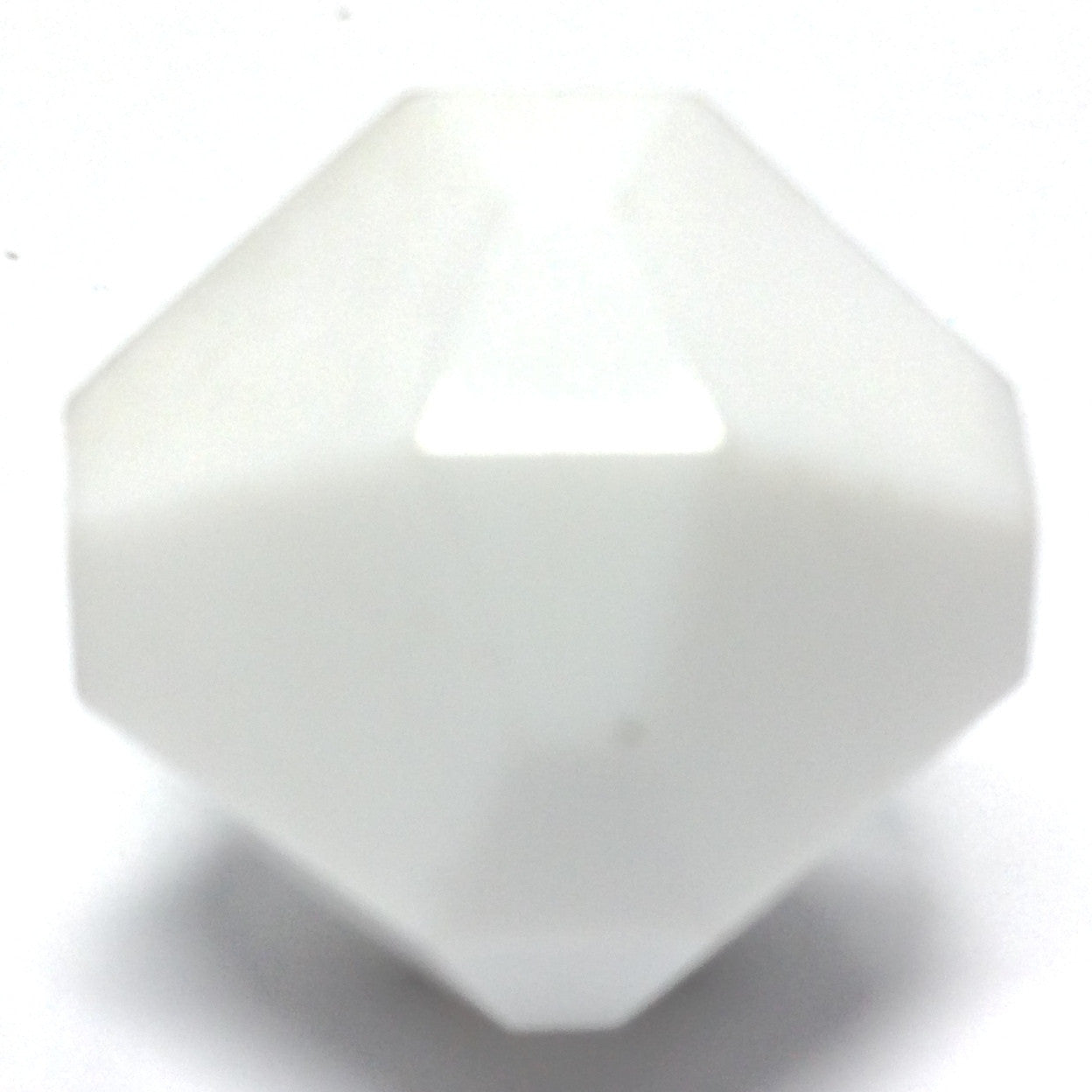 15MM White Faceted Bead (36 pieces)