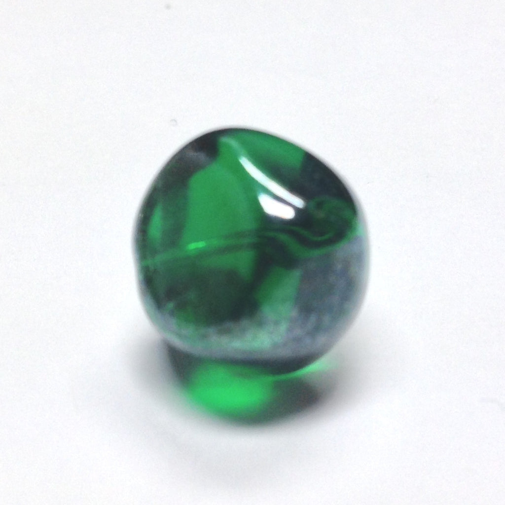 10MM Emerald Green Glass Nugget Bead (36 pieces)