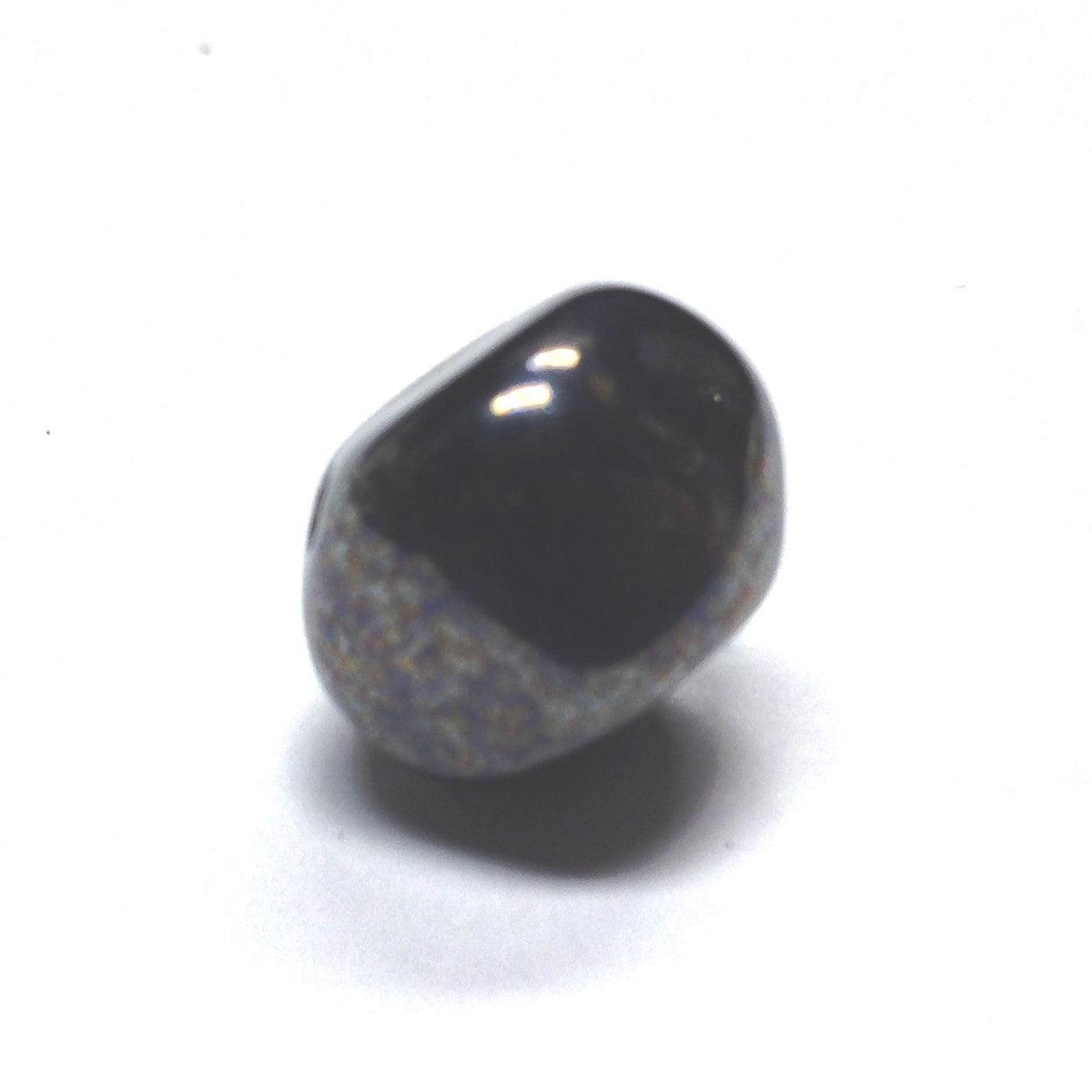 8MM Gunmetal Glass Nugget Bead (72 pieces)