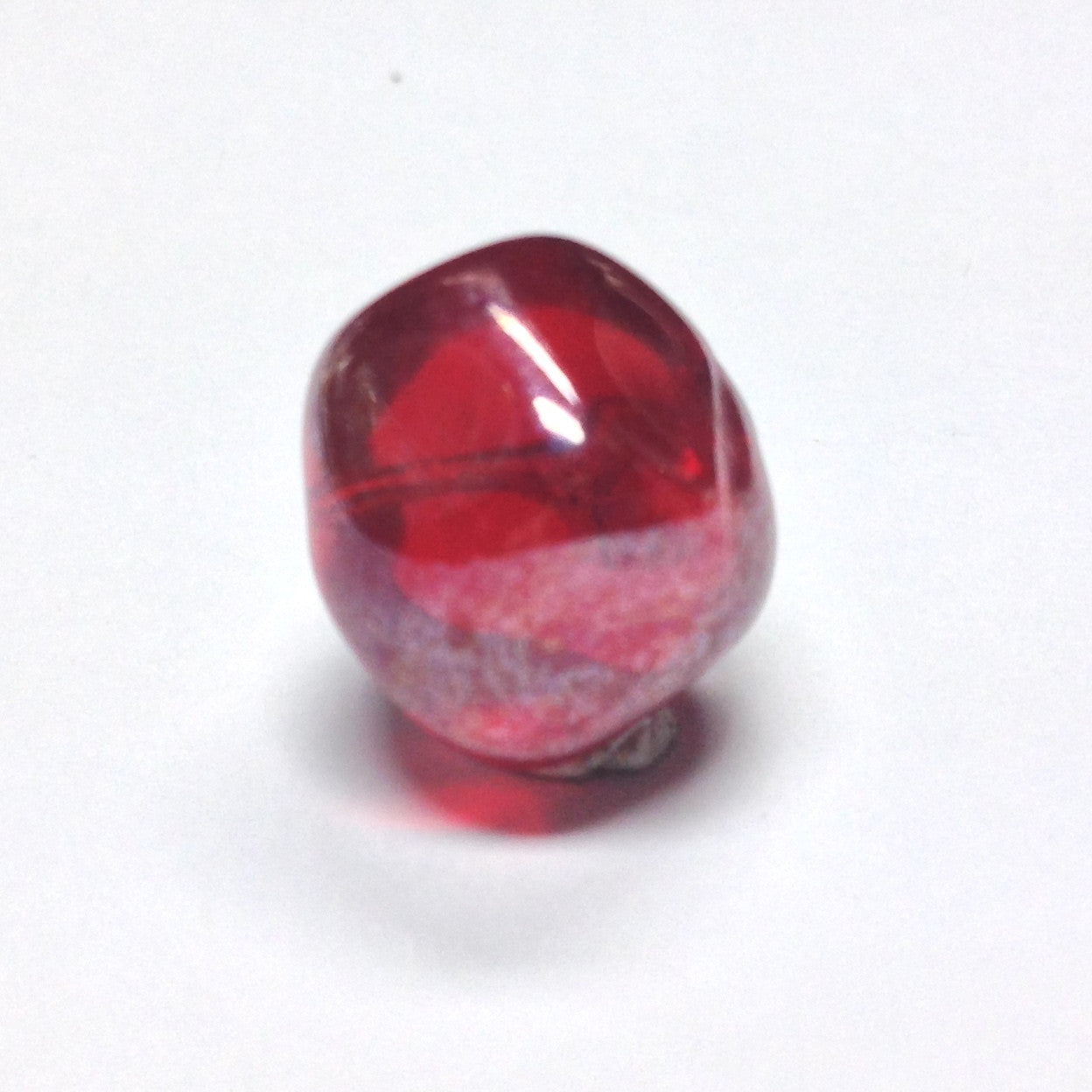 10MM Ruby Red Glass Nugget Bead (36 pieces)