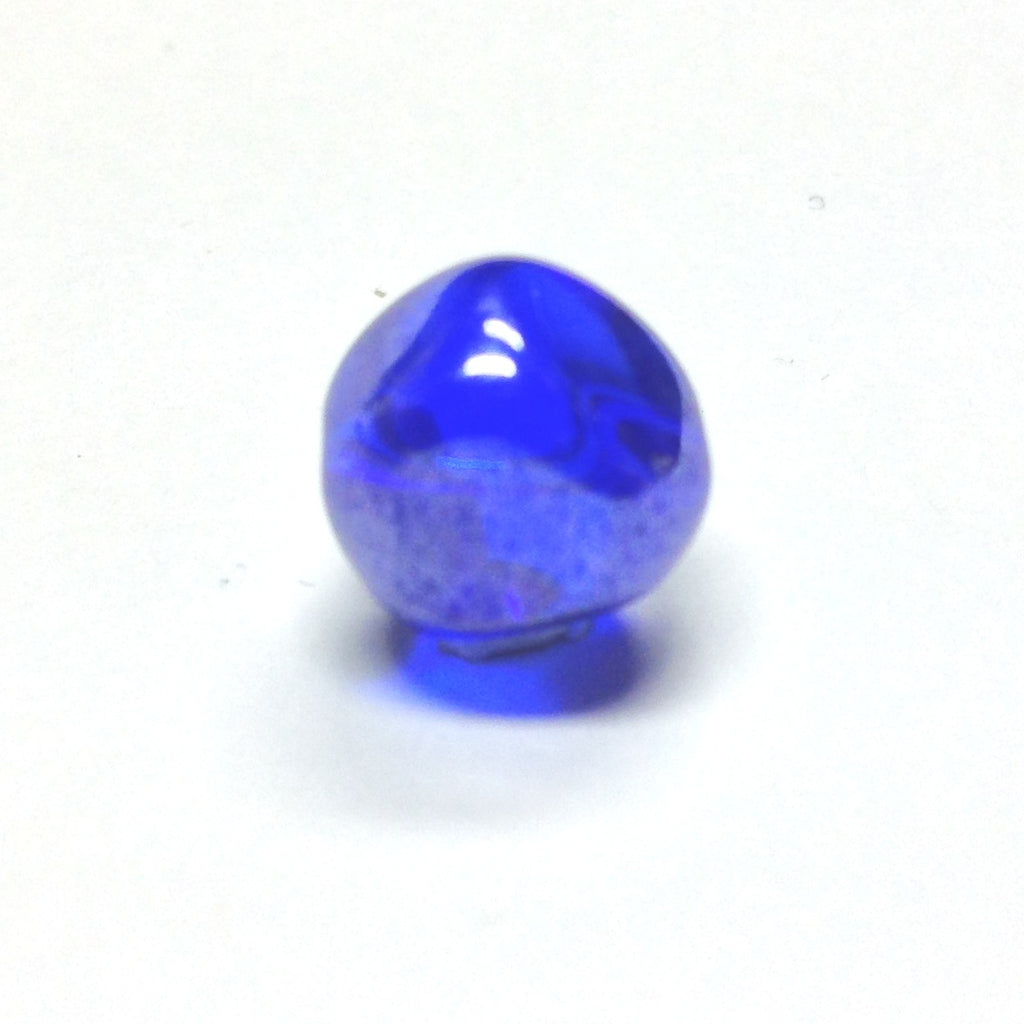 10MM Sapphire Blue Glass Nugget Bead. (36 pieces)