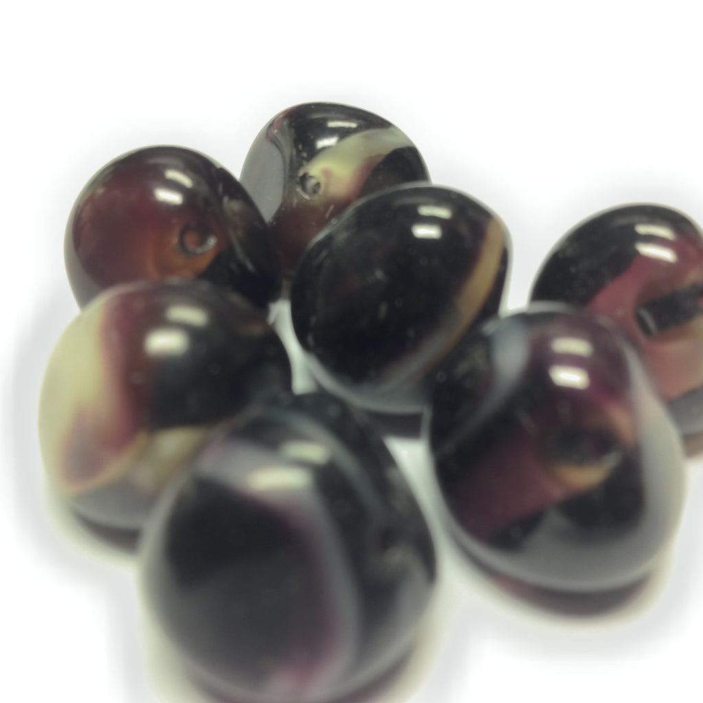 17MM Amethyst Glass Baroque Bead (36 pieces)