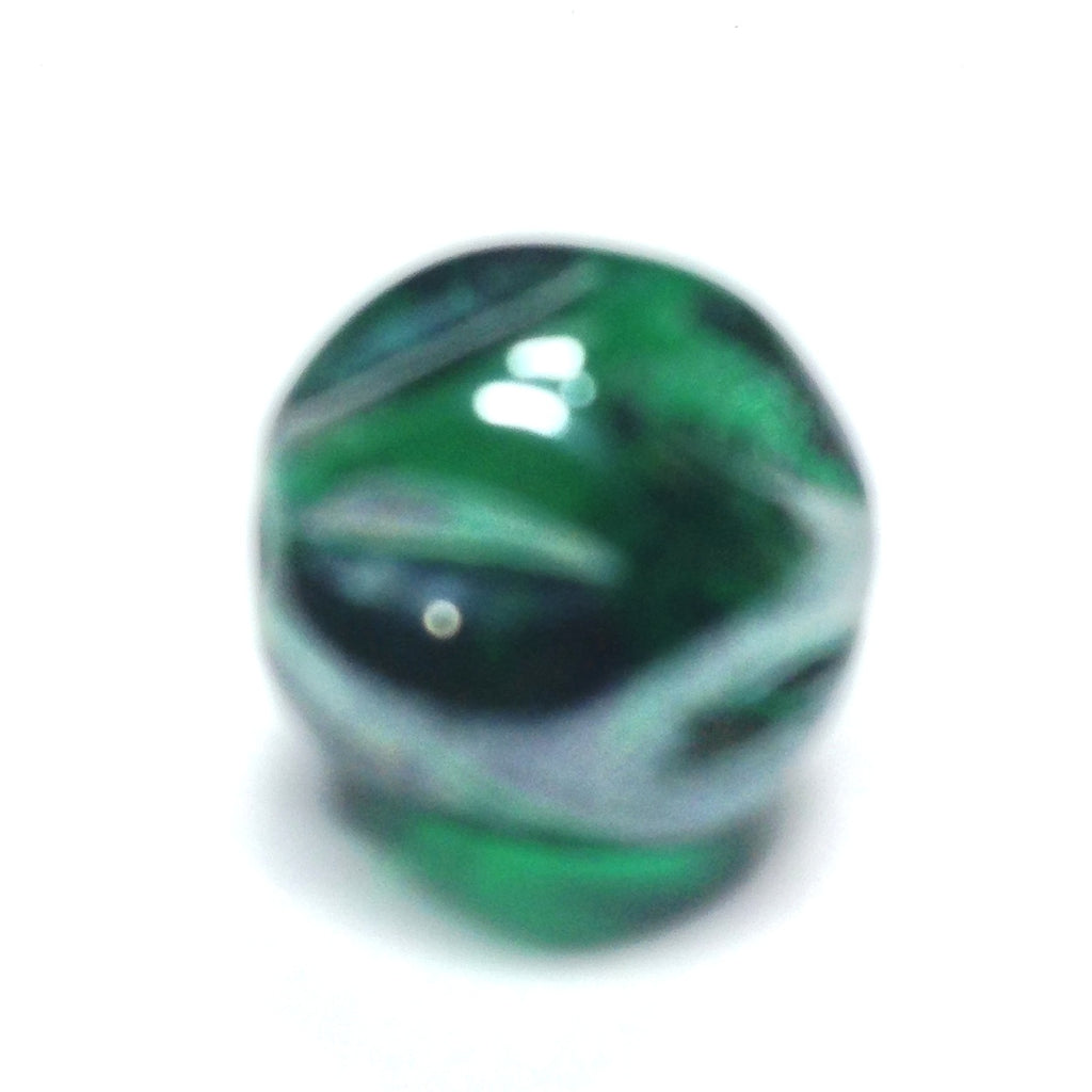 12MM Emerald Green Luster Nugget Bead (36 pieces)
