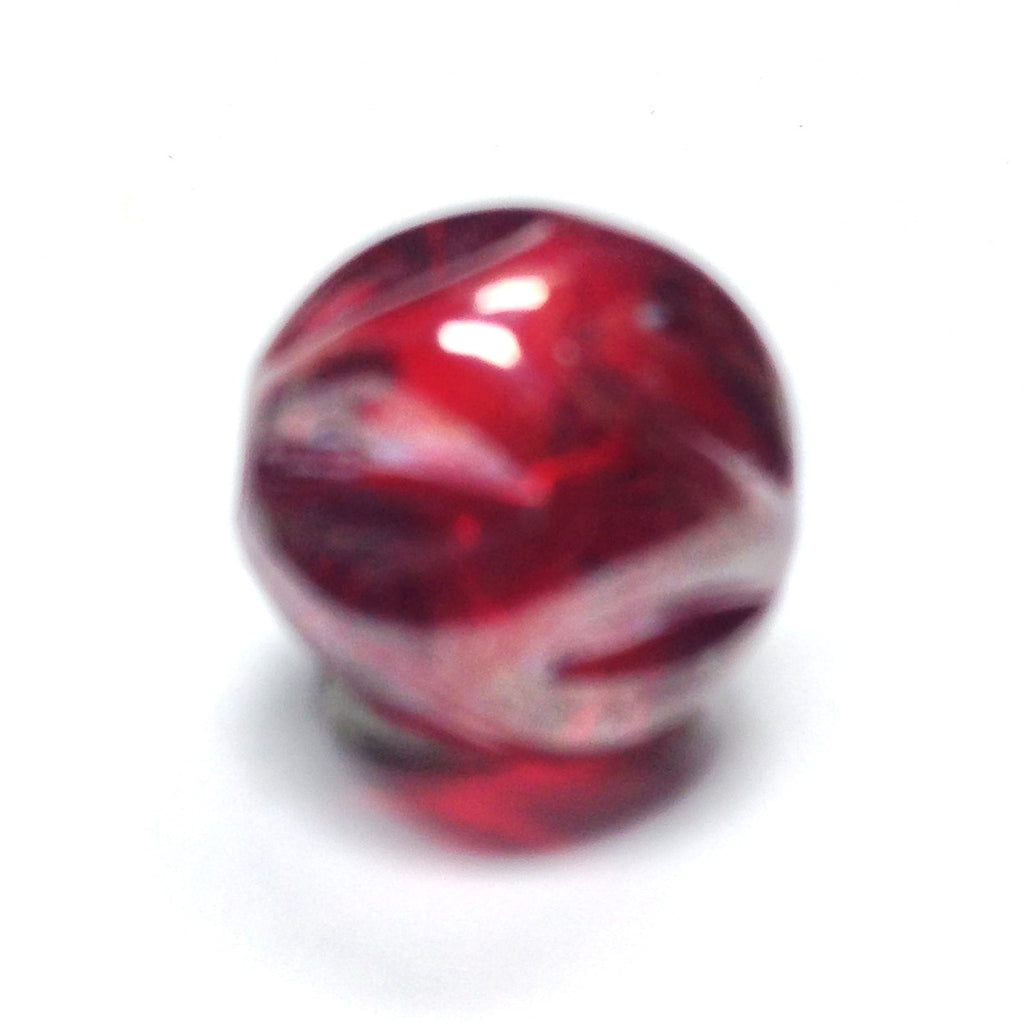 8MM Ruby Red Luster Nugget Bead (72 pieces)
