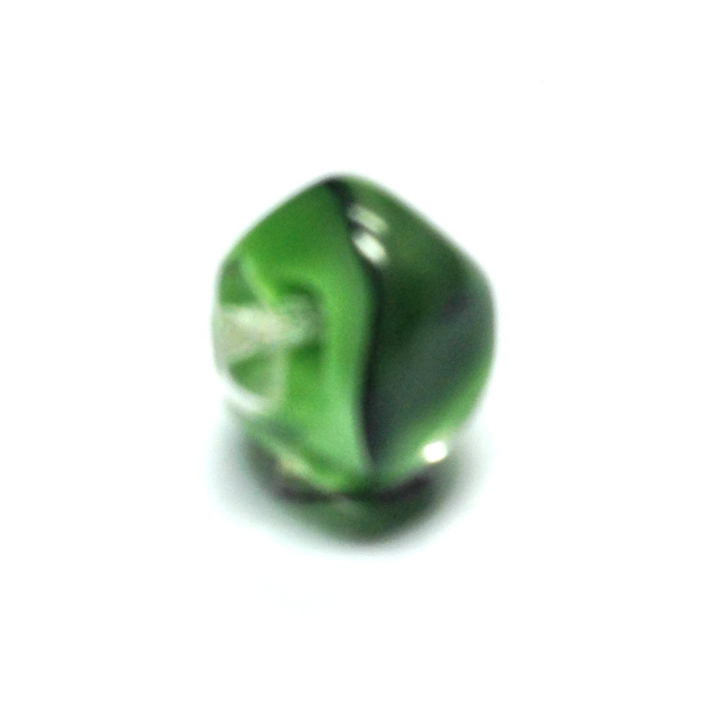 10MM Green Glass Nugget Bead (72 pieces)