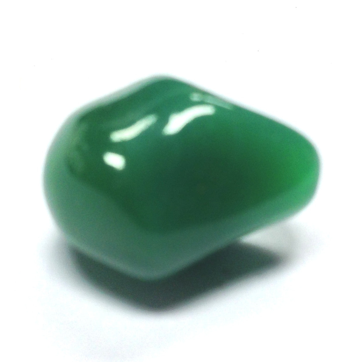 Large Jade Glass Nugget Bead (24 pieces)