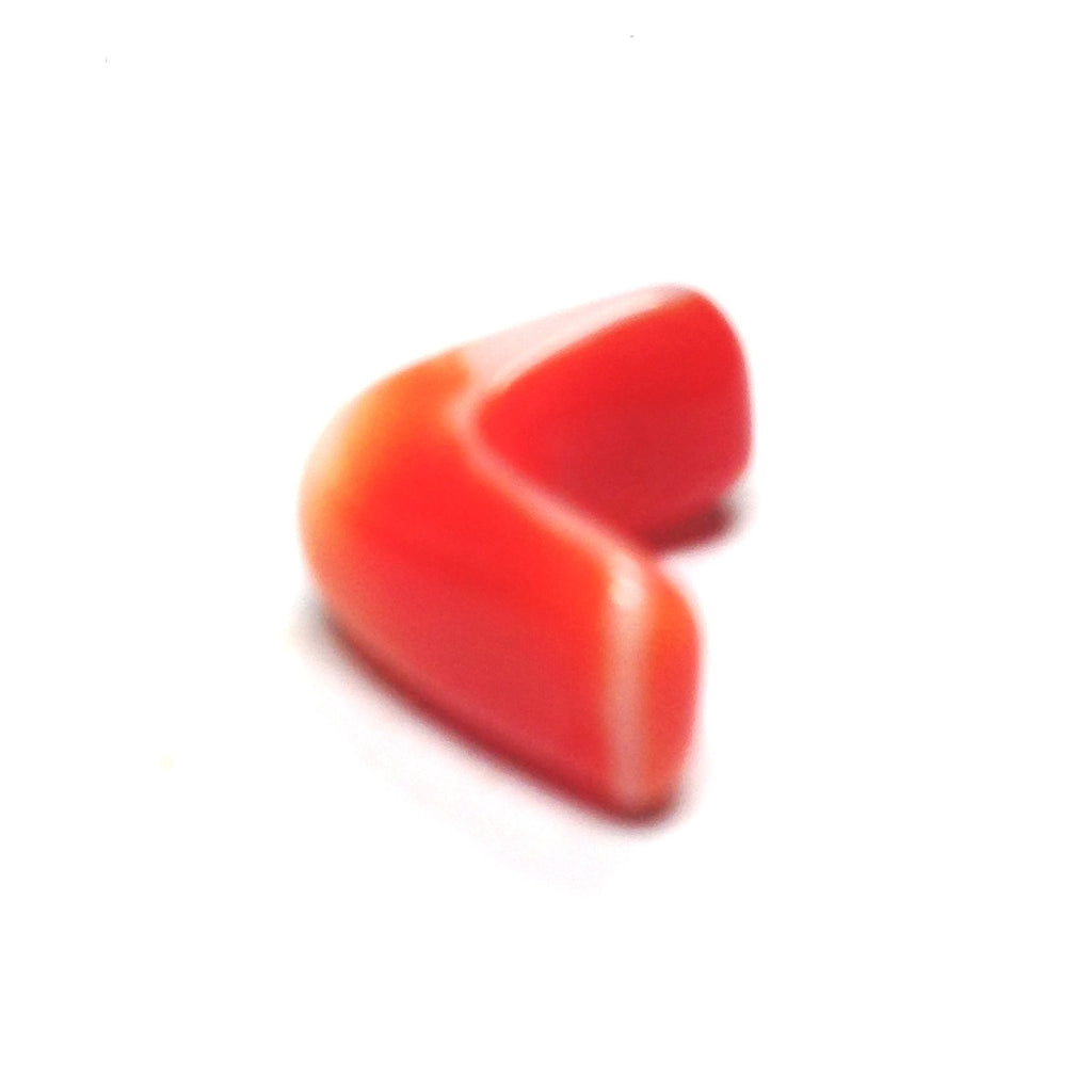 11MM Orange/White Glass Interlock Bead (72 pieces)