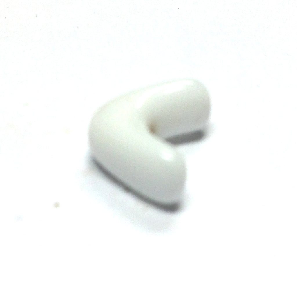 11MM White Glass Interlock Bead (72 pieces)