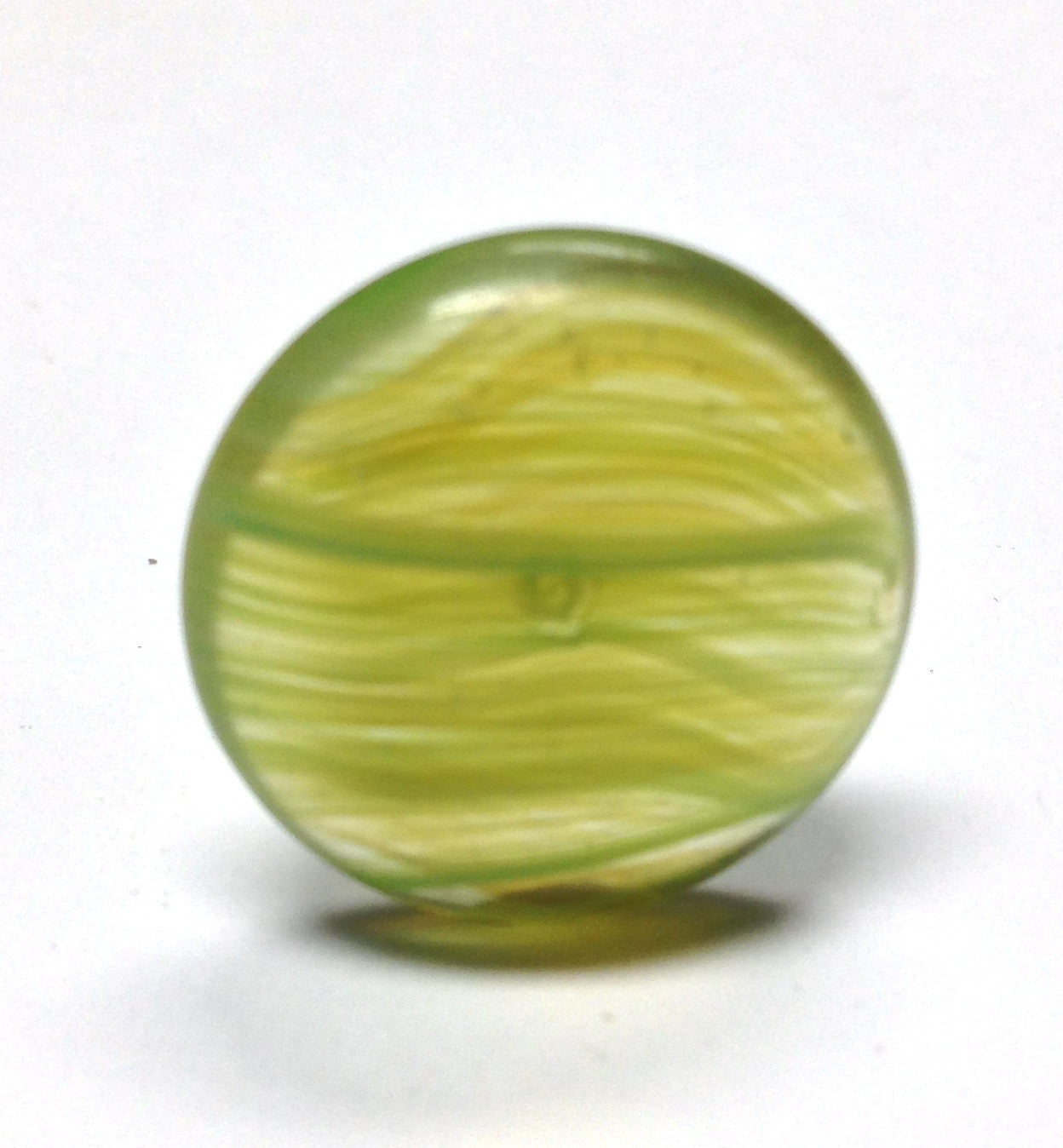 18MM Green Striated Glass Cab (12 pieces)