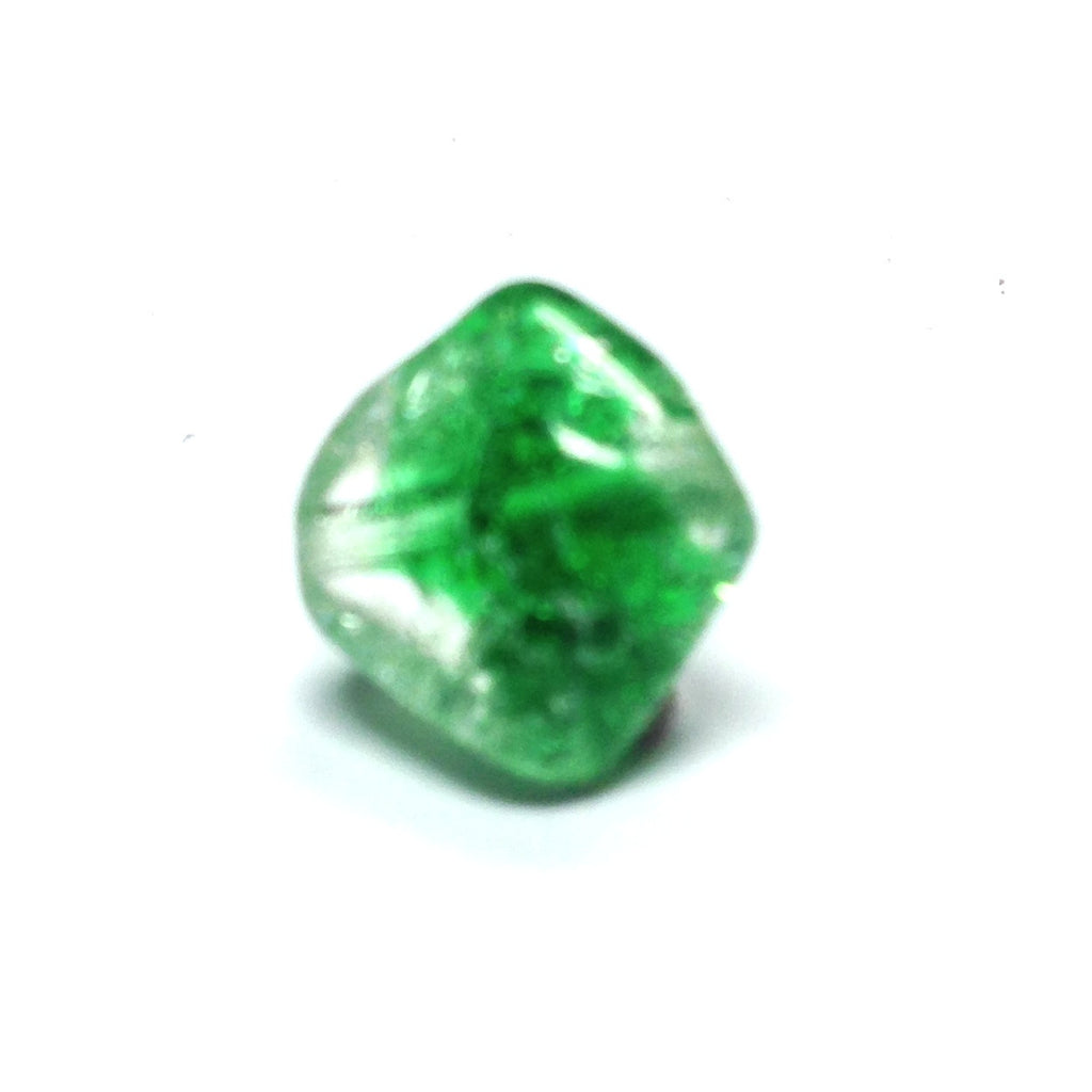 10MM Emerald Green Crackle Glass Bead (72 pieces)