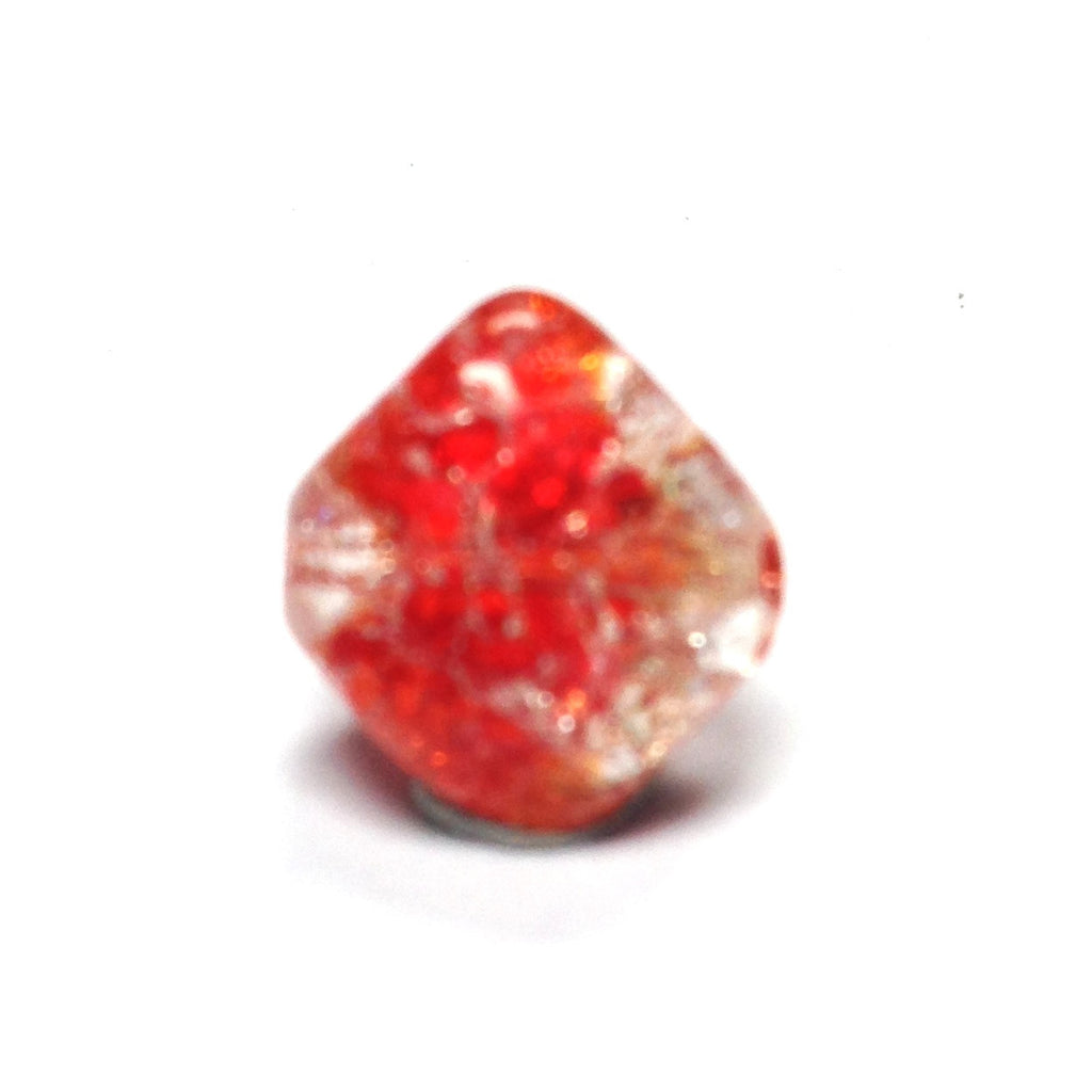 10MM Ruby Red Crackle Glass Bead (72 pieces)