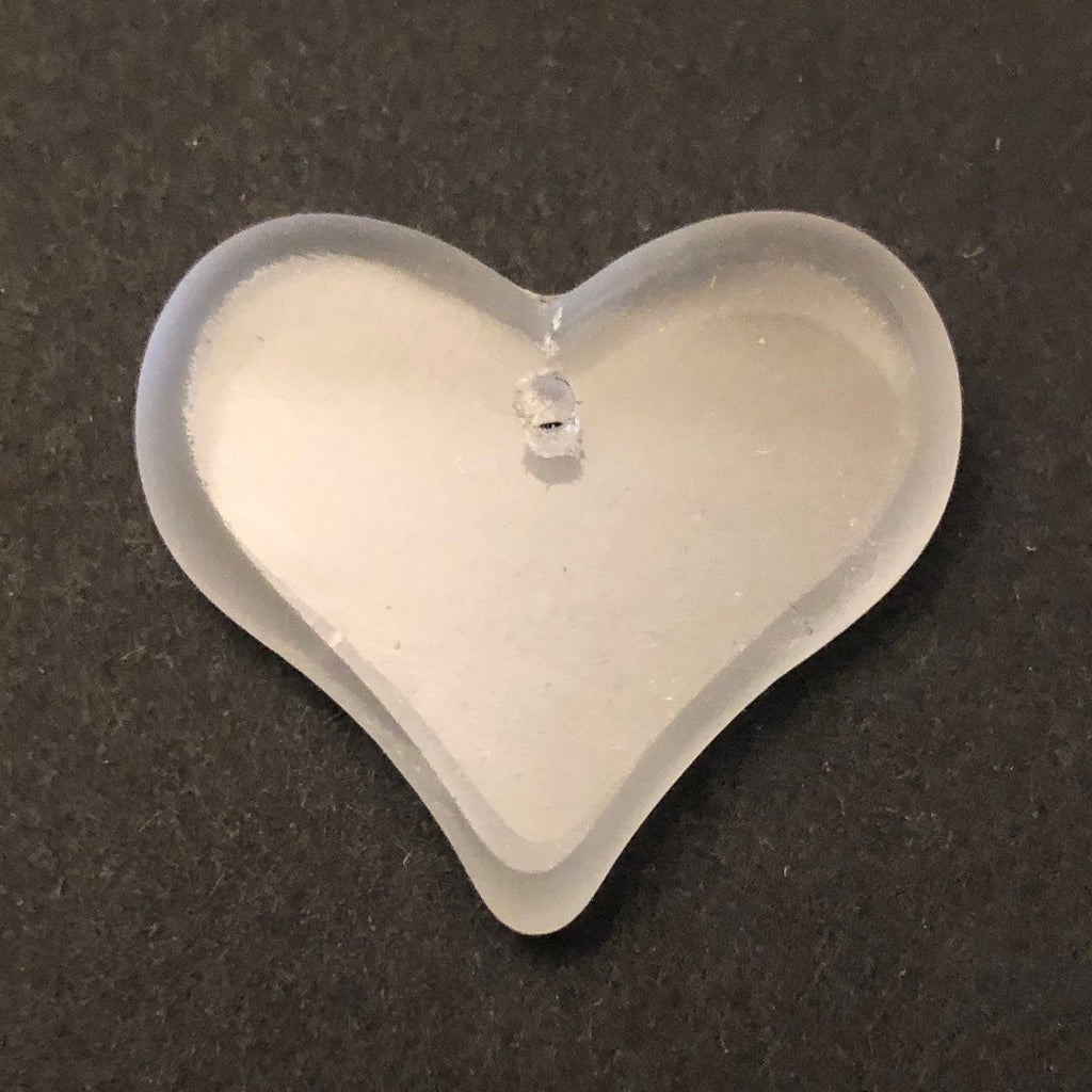 28X25MM Crystal Table Cut Glass Heart Drop (7pieces)