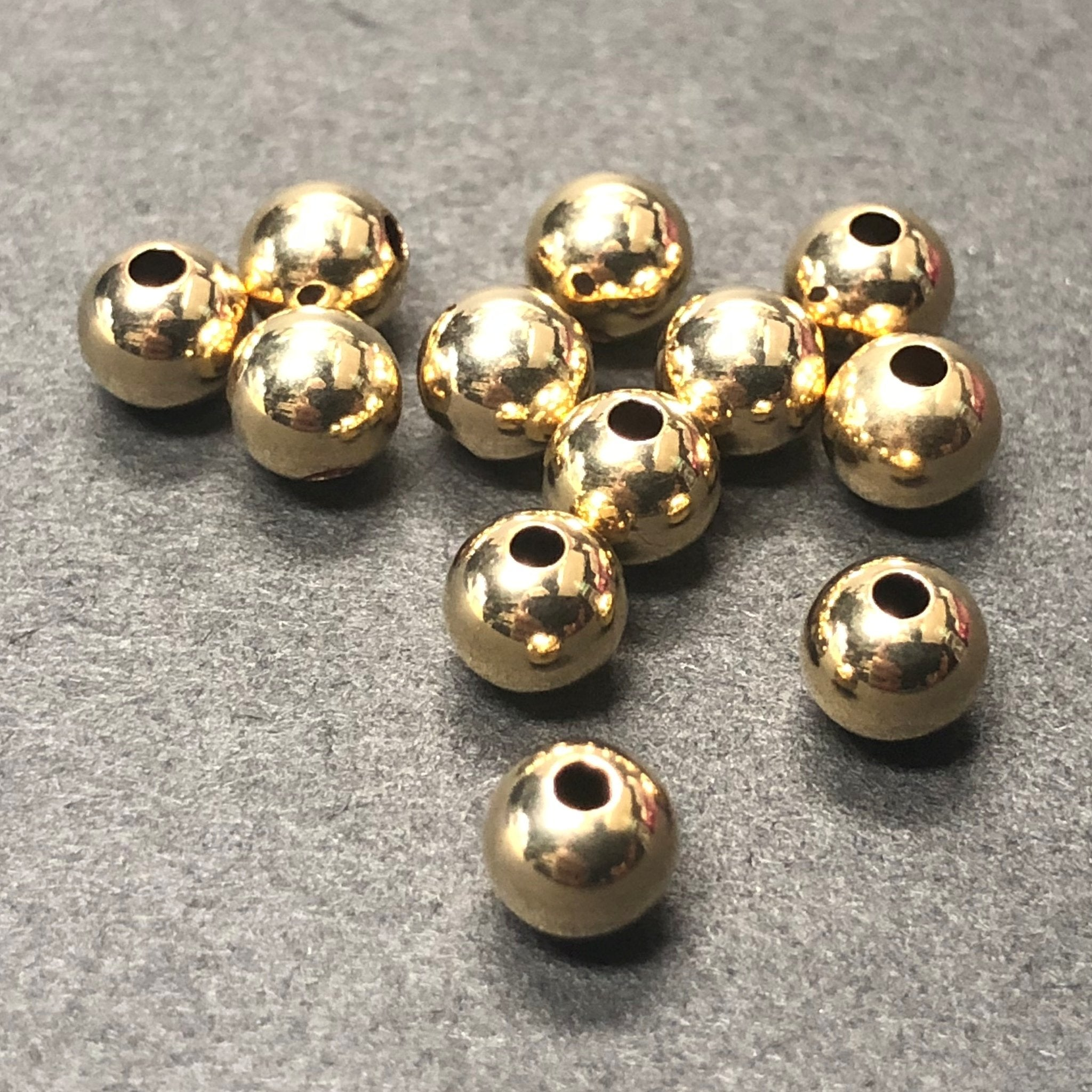 14K Gold Filled 6MM Beads (6 Pc/Pk)