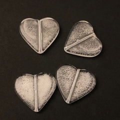 "25X28MM Crystal ""Bubbles"" Heart Bead (24 pieces)"