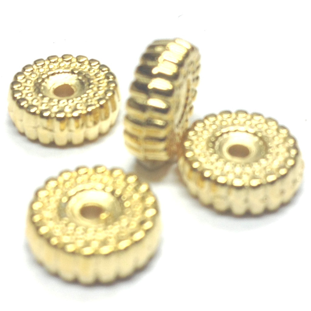 3X10MM Hamilton Gold Rondel Bead (144 pieces)