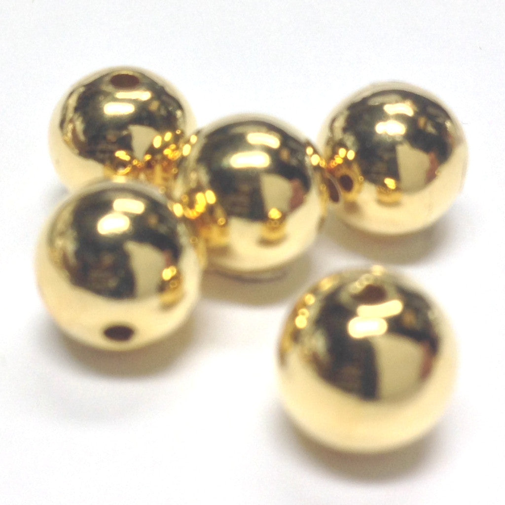 10MM Hamilton Gold Round Bead (72 pieces)