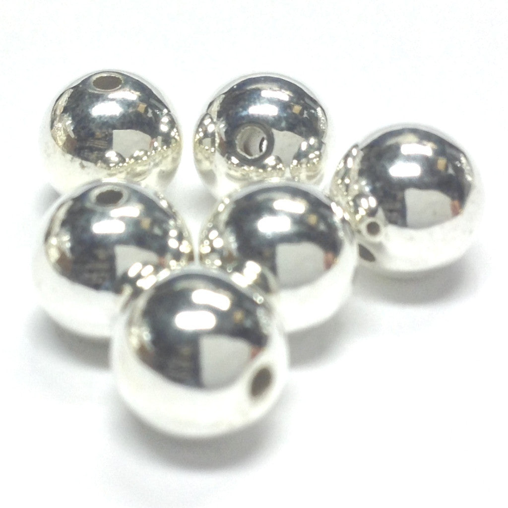 3MM Silver Plated Round Bead (500 pieces)