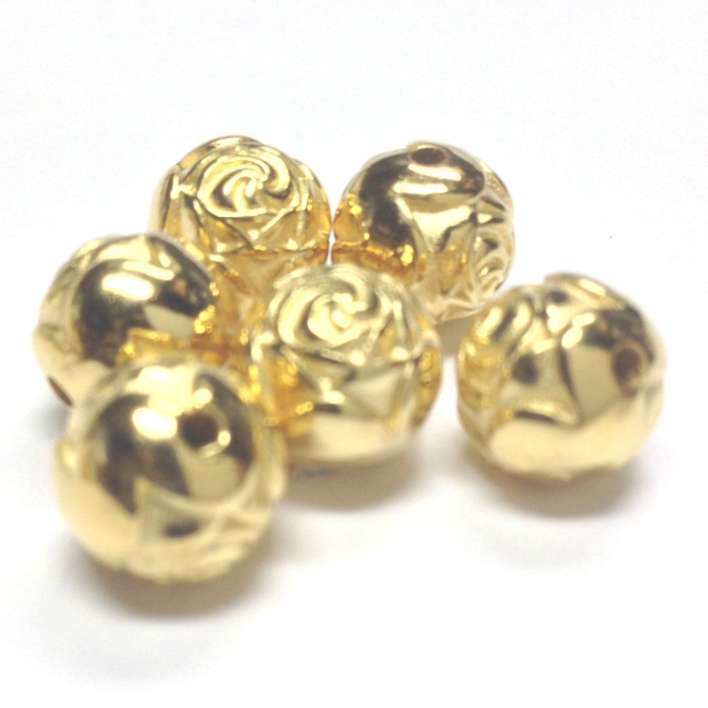 9MM Rosebud Bead Hamilton Gold Bead (72 pieces)