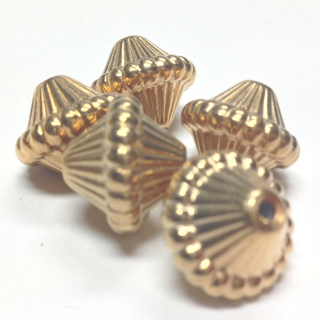 14MM Hamilton Gold Mushroom Bead (24 pieces)