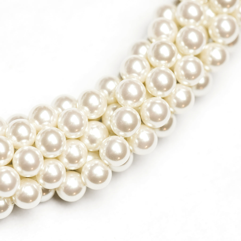 "2MM Kiska Pearl Beads 60"" (1 dozen strands)"