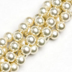 "10MM Handpolish Kiska Glass Pearls 18"" Knotted (1 strand)"
