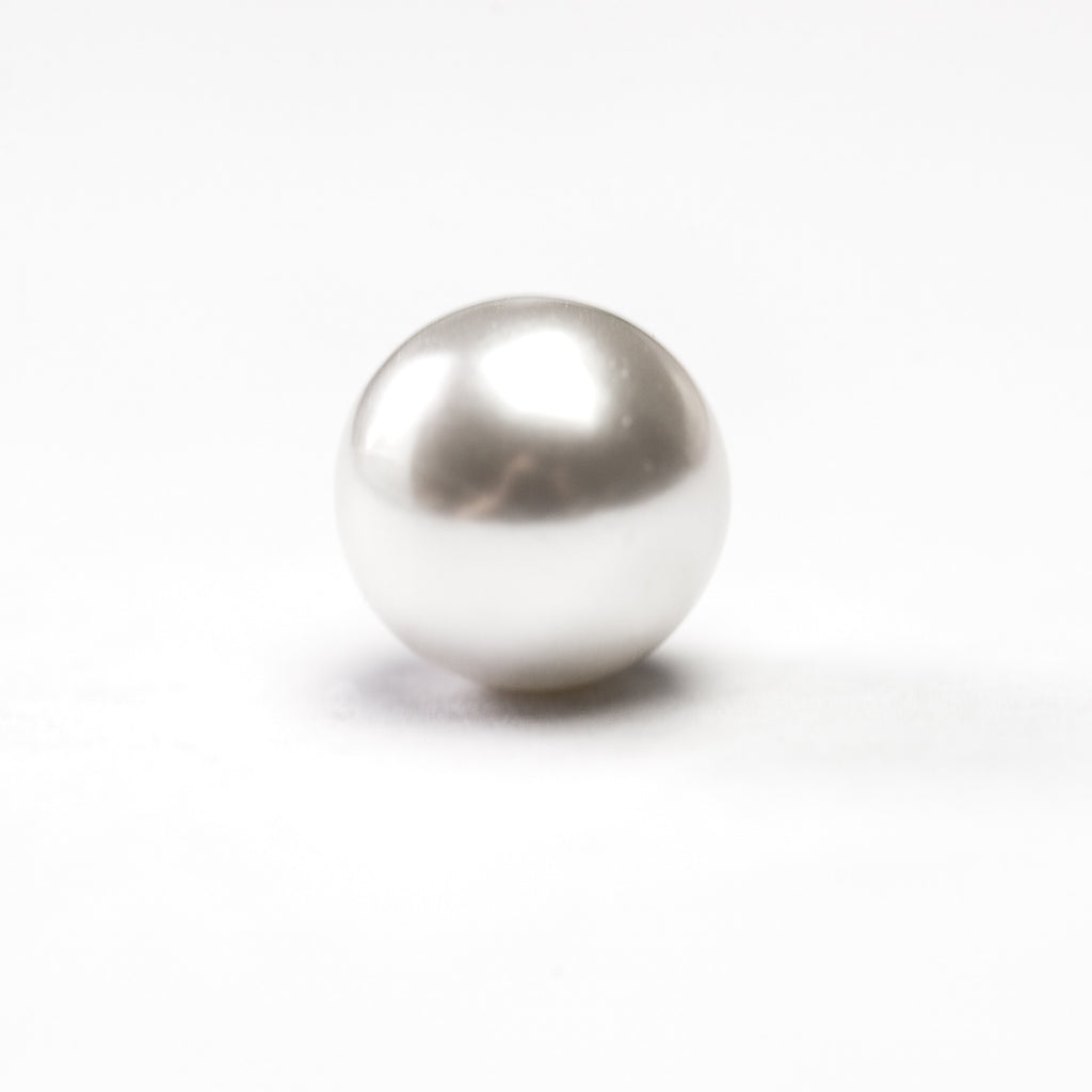 12MM One Hole White Pearl Ball (144 pieces)
