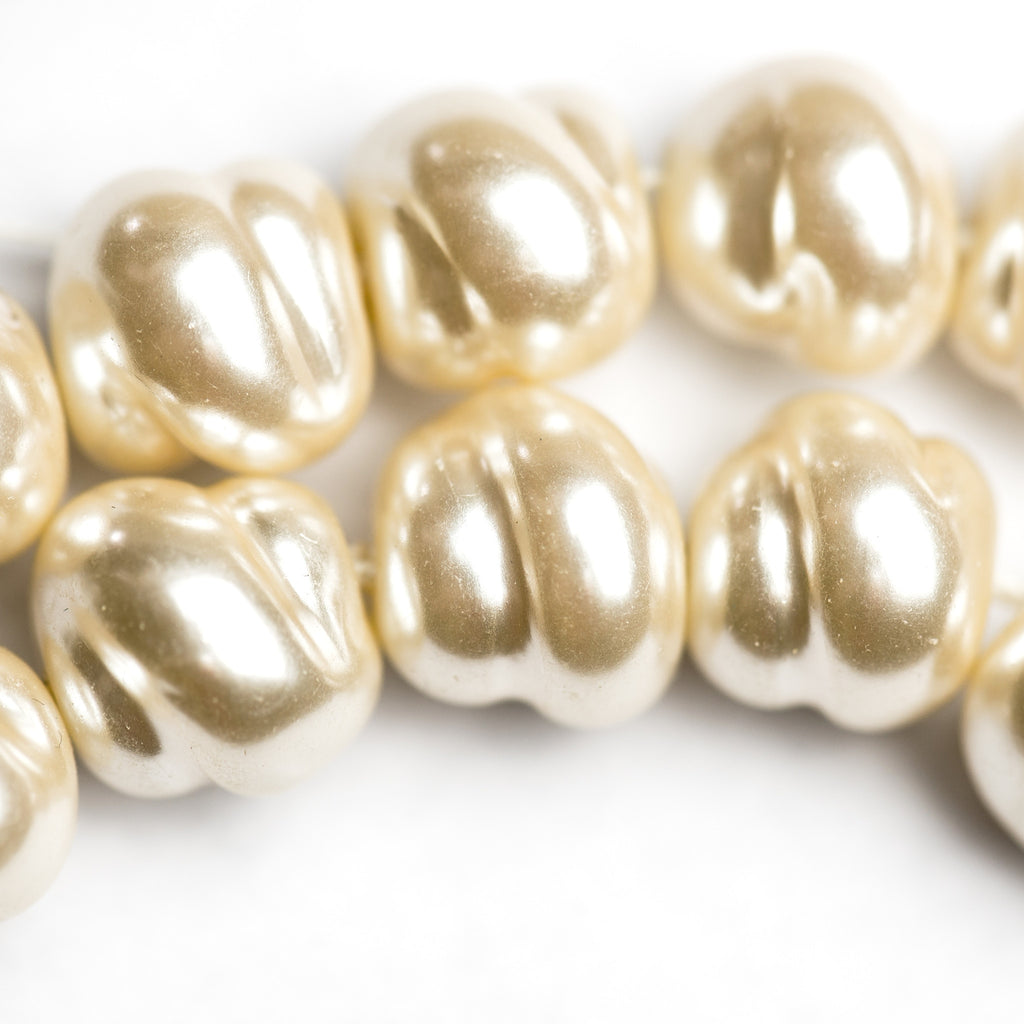 12MM Fancy Cultura Glass Pearl Bead (12 pieces)