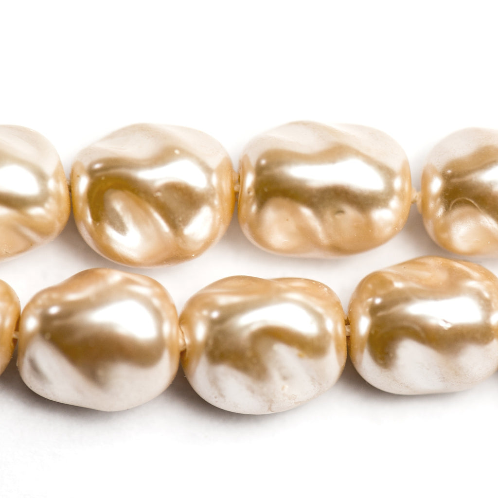 13MM Fancy Cultura Glass Pearl Bead (12 pieces)