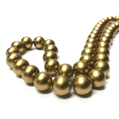 "10MM Clio Gold Round Glass Beads 16"" (1 string)"