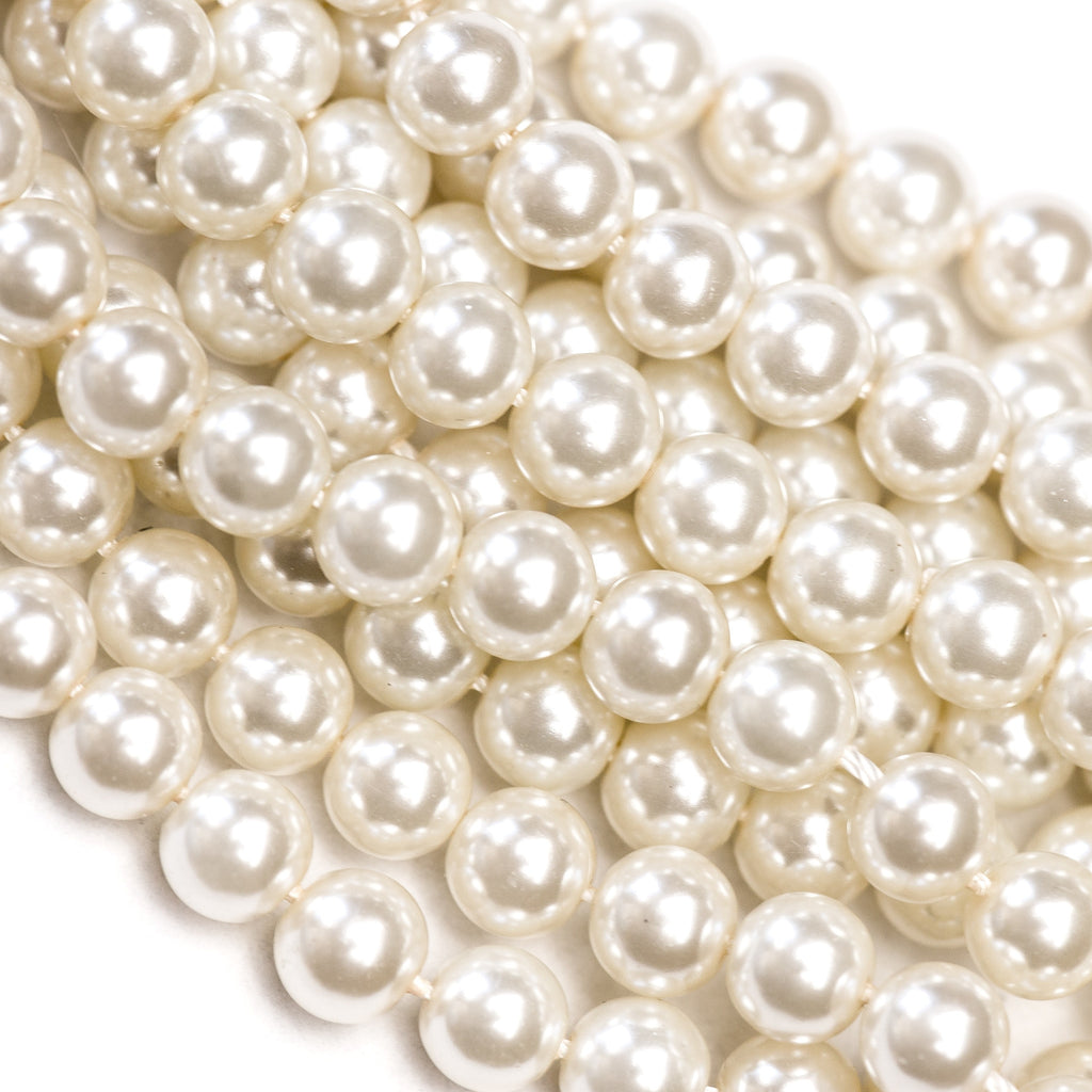 10MM Light Kiska Glass Pearls 16""