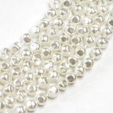 6MM White Pearl Glass Nugget 16""