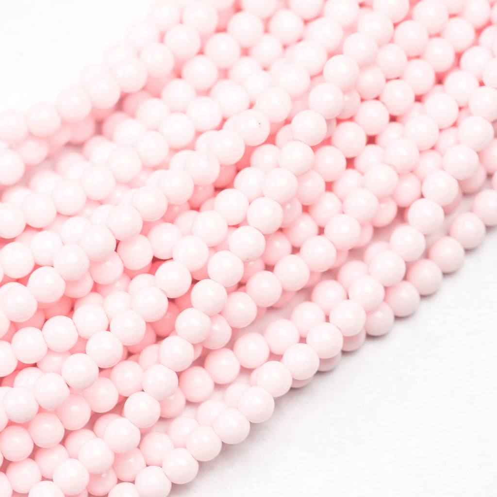 "4MM Opaque Light Pink Bead 60"" (6 strands)"